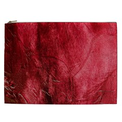 Red Background Texture Cosmetic Bag (xxl)  by Simbadda
