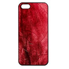 Red Background Texture Apple Iphone 5 Seamless Case (black) by Simbadda