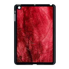 Red Background Texture Apple Ipad Mini Case (black) by Simbadda
