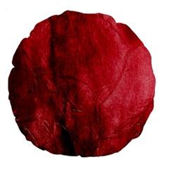 Red Background Texture Large 18  Premium Round Cushions by Simbadda