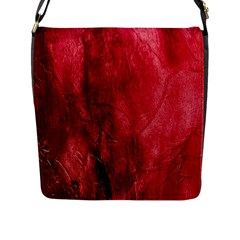 Red Background Texture Flap Messenger Bag (l)  by Simbadda