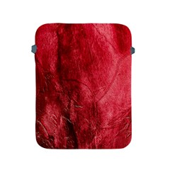 Red Background Texture Apple Ipad 2/3/4 Protective Soft Cases by Simbadda