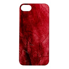Red Background Texture Apple Iphone 5s/ Se Hardshell Case by Simbadda