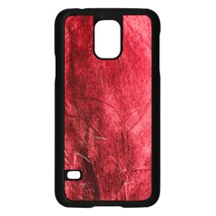 Red Background Texture Samsung Galaxy S5 Case (black) by Simbadda