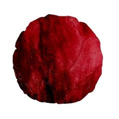 Red Background Texture Standard 15  Premium Flano Round Cushions by Simbadda