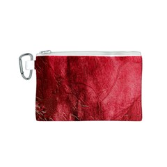 Red Background Texture Canvas Cosmetic Bag (s) by Simbadda