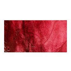 Red Background Texture Satin Wrap by Simbadda