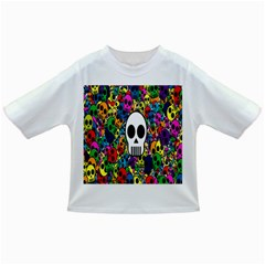 Skull Background Bright Multi Colored Infant/toddler T Shirts by Simbadda