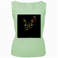 Sphynx Cat Women s Green Tank Top by Valentinaart