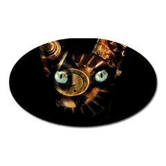 Sphynx Cat Oval Magnet by Valentinaart