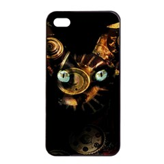 Sphynx Cat Apple Iphone 4/4s Seamless Case (black) by Valentinaart