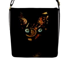 Sphynx Cat Flap Messenger Bag (l)  by Valentinaart