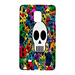 Skull Background Bright Multi Colored Galaxy Note Edge by Simbadda
