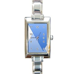 Stripes Lines Texture Rectangle Italian Charm Watch by Simbadda
