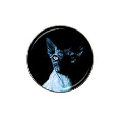 Blue Sphynx Cat Hat Clip Ball Marker by Valentinaart
