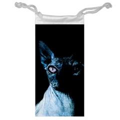 Blue Sphynx Cat Jewelry Bag by Valentinaart