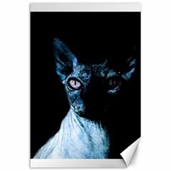 Blue Sphynx Cat Canvas 24  X 36  by Valentinaart