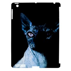 Blue Sphynx Cat Apple Ipad 3/4 Hardshell Case (compatible With Smart Cover) by Valentinaart