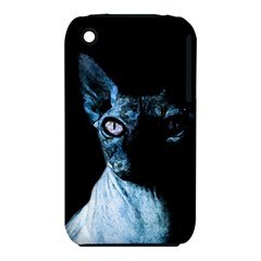 Blue Sphynx Cat Iphone 3s/3gs by Valentinaart
