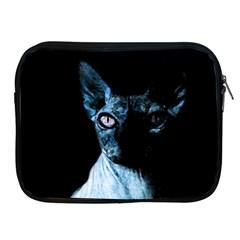 Blue Sphynx Cat Apple Ipad 2/3/4 Zipper Cases by Valentinaart