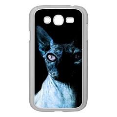 Blue Sphynx Cat Samsung Galaxy Grand Duos I9082 Case (white) by Valentinaart