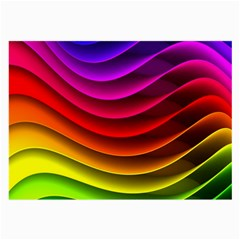 Spectrum Rainbow Background Surface Stripes Texture Waves Large Glasses Cloth (2 Side) by Simbadda