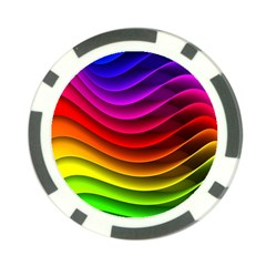 Spectrum Rainbow Background Surface Stripes Texture Waves Poker Chip Card Guard by Simbadda