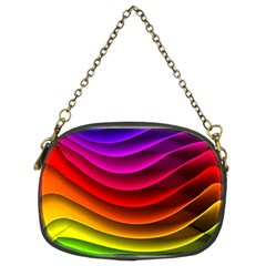 Spectrum Rainbow Background Surface Stripes Texture Waves Chain Purses (two Sides)  by Simbadda
