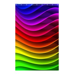 Spectrum Rainbow Background Surface Stripes Texture Waves Shower Curtain 48  X 72  (small)  by Simbadda