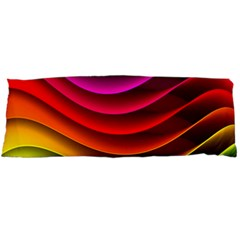Spectrum Rainbow Background Surface Stripes Texture Waves Body Pillow Case Dakimakura (two Sides) by Simbadda