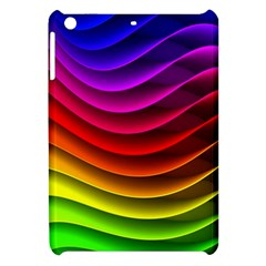 Spectrum Rainbow Background Surface Stripes Texture Waves Apple Ipad Mini Hardshell Case by Simbadda