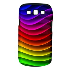 Spectrum Rainbow Background Surface Stripes Texture Waves Samsung Galaxy S Iii Classic Hardshell Case (pc+silicone) by Simbadda