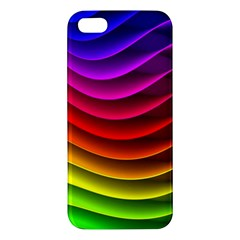 Spectrum Rainbow Background Surface Stripes Texture Waves Iphone 5s/ Se Premium Hardshell Case by Simbadda