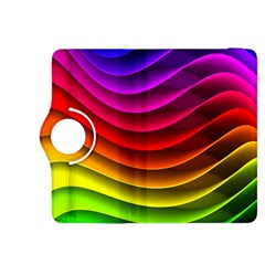 Spectrum Rainbow Background Surface Stripes Texture Waves Kindle Fire Hdx 8 9  Flip 360 Case by Simbadda
