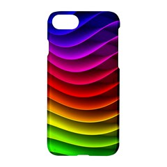 Spectrum Rainbow Background Surface Stripes Texture Waves Apple Iphone 7 Hardshell Case by Simbadda