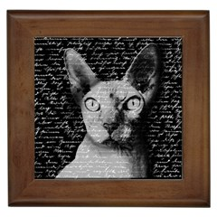 Sphynx Cat Framed Tiles by Valentinaart