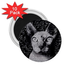 Sphynx Cat 2 25  Magnets (10 Pack)  by Valentinaart