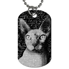 Sphynx Cat Dog Tag (one Side) by Valentinaart