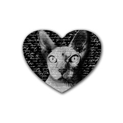 Sphynx Cat Heart Coaster (4 Pack)  by Valentinaart