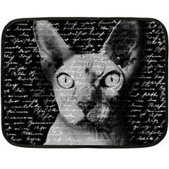 Sphynx Cat Fleece Blanket (mini) by Valentinaart