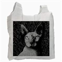 Sphynx Cat Recycle Bag (two Side)  by Valentinaart