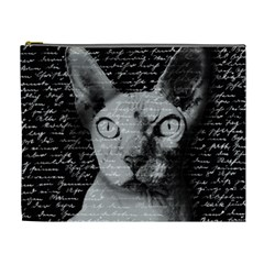 Sphynx Cat Cosmetic Bag (xl) by Valentinaart