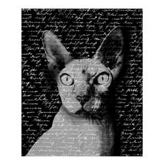 Sphynx Cat Shower Curtain 60  X 72  (medium)  by Valentinaart