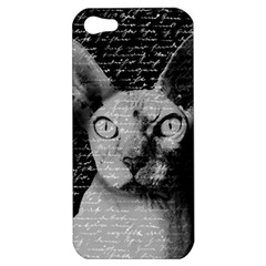 Sphynx Cat Apple Iphone 5 Hardshell Case by Valentinaart