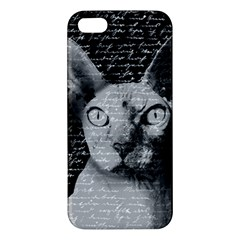 Sphynx Cat Apple Iphone 5 Premium Hardshell Case by Valentinaart