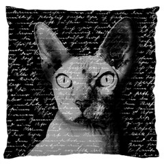 Sphynx Cat Standard Flano Cushion Case (two Sides) by Valentinaart