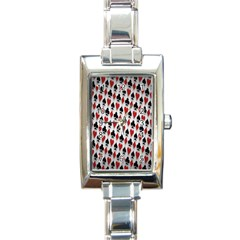Suit Spades Hearts Clubs Diamonds Background Texture Rectangle Italian Charm Watch