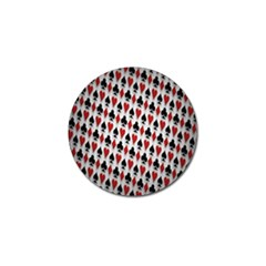 Suit Spades Hearts Clubs Diamonds Background Texture Golf Ball Marker (4 Pack) by Simbadda