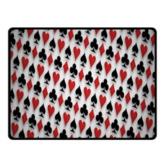 Suit Spades Hearts Clubs Diamonds Background Texture Fleece Blanket (small) by Simbadda