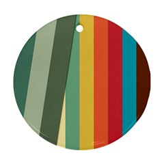 Texture Stripes Lines Color Bright Ornament (round) by Simbadda